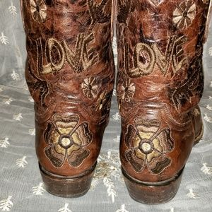 Old Gringo Chercuda Brass Love Cowboy Boots Size 9